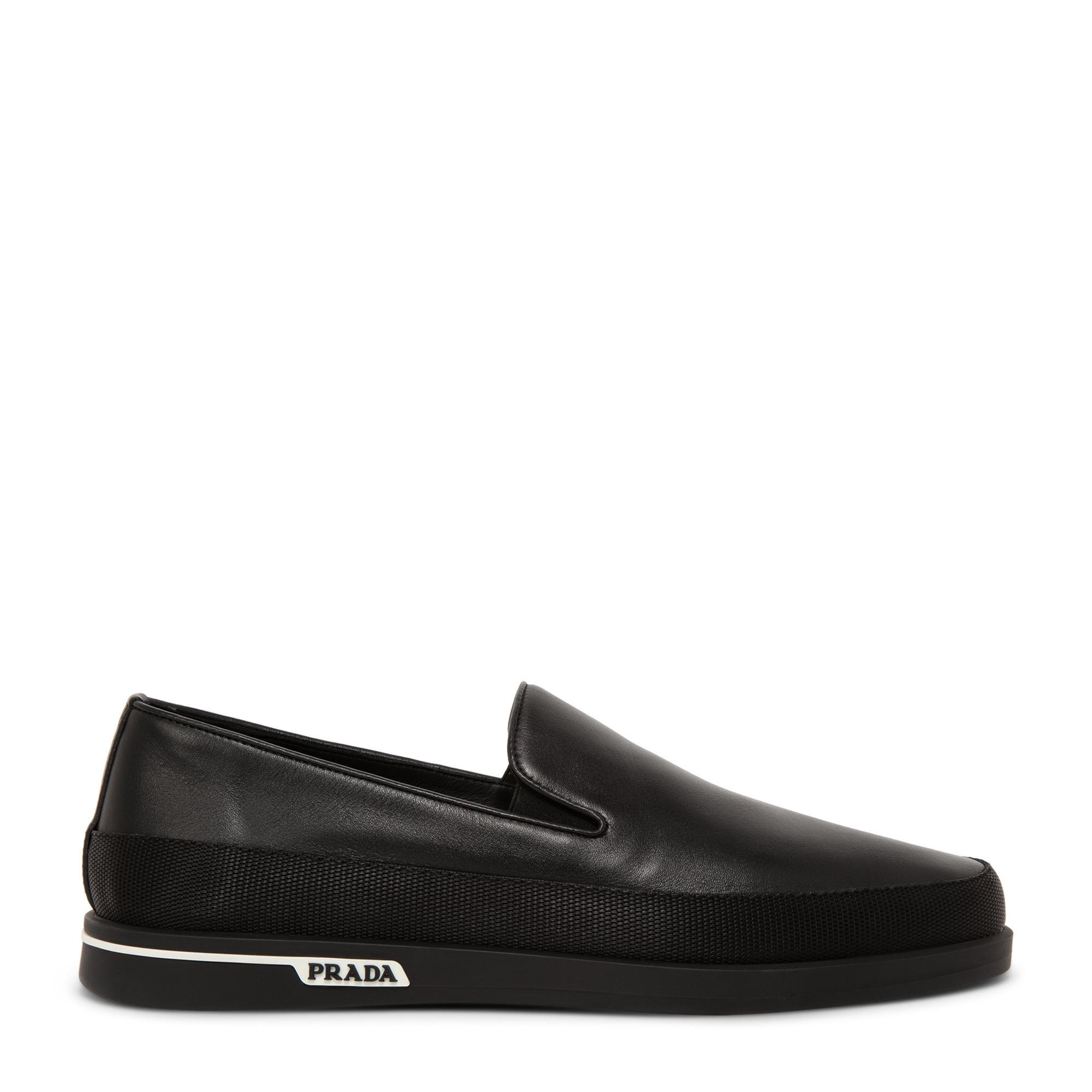 حذاء سان تروبيز الرياضي الجلدي بدون أربطة