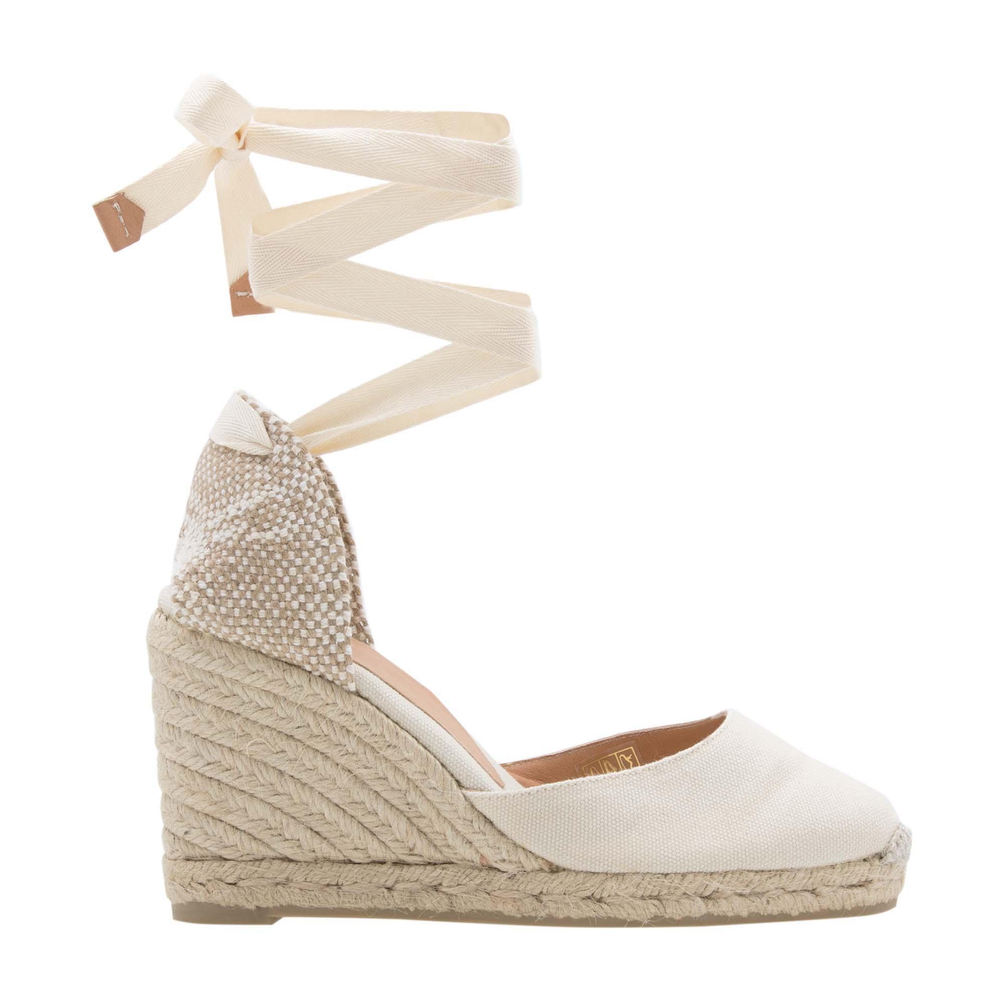 """حذاء اسپادريل """"كارينا"""" بكعب متصل"""
