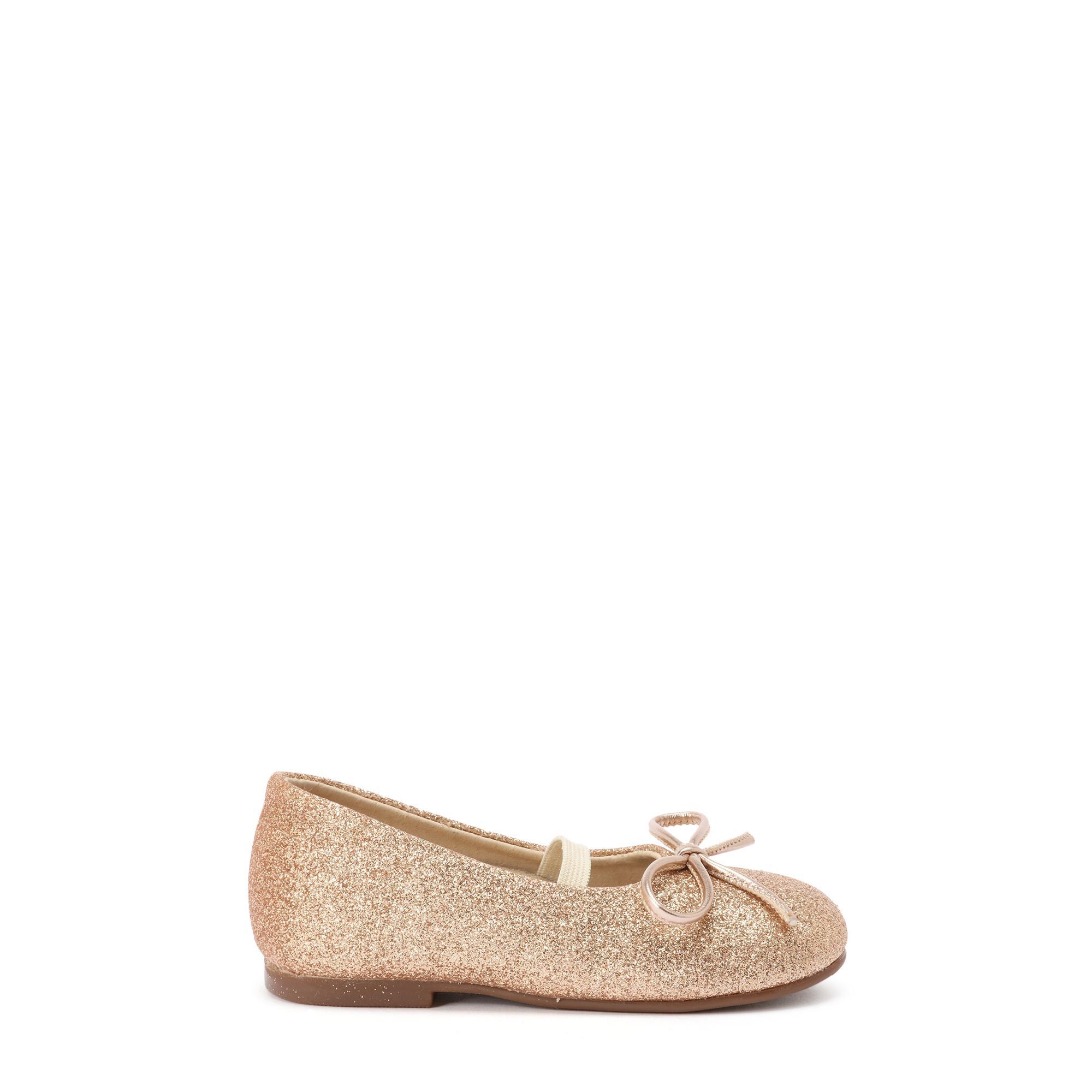 حذاء باليرينا بمظهر معدني لماع
