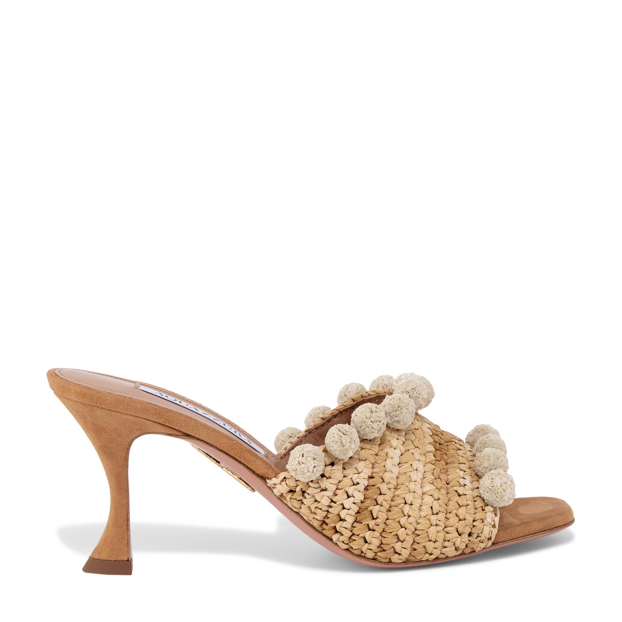 حذاء منسوج مفتوح من الخلف